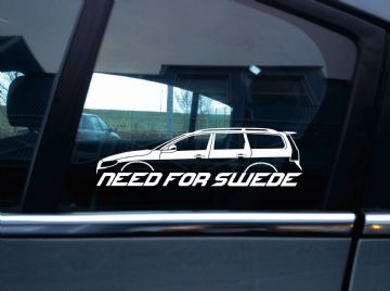NEED FOR SWEDE sticker - For Volvo V70 3rd gen (2008-2016) | R-design (with roof rails)